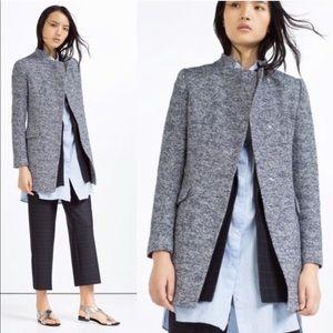 Zara tweed coat